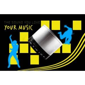 Bluetooth Lautsprecher mit SD-Kartenslot, USB-Schnittstelle und Mikrofon mit eingebautem Lithium-Ionen-Akku - inklusive Multifunktionskabel